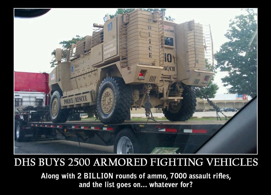 DHS BUYS 2500 ARMORED FIGHTING VEHICLES