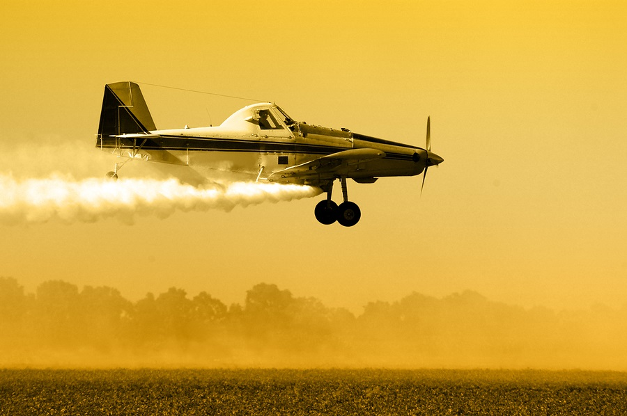 Crop Duster Silhouette