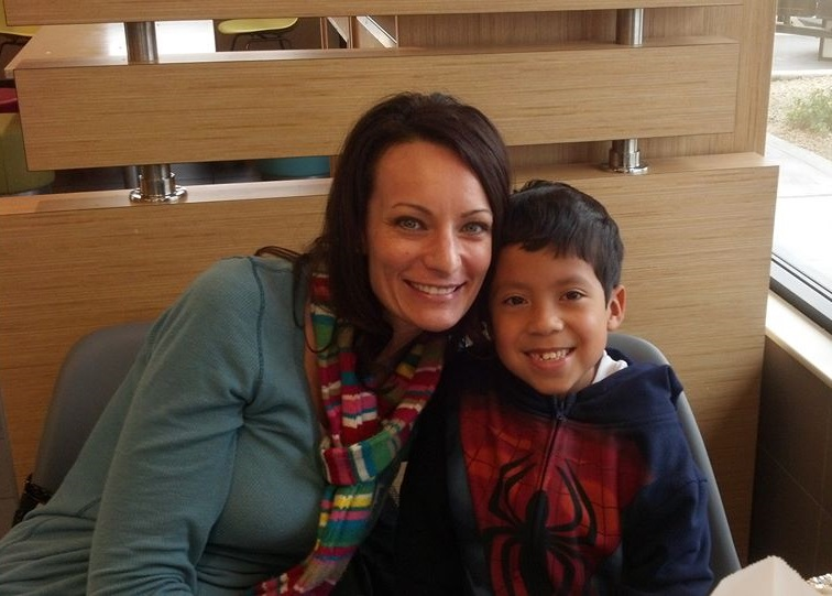 Tonya Brown with Adopted Son Christopher