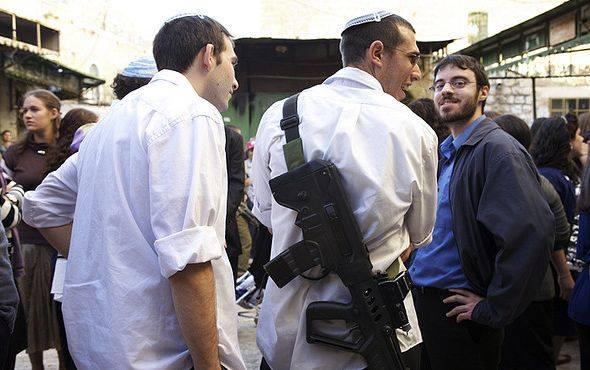 Armed settlers
