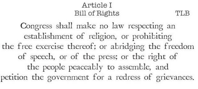 recent page at the particular bill regarding rights