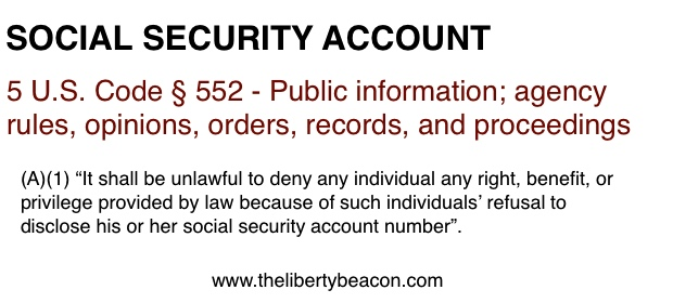 Social Security Deductions Exemptions The Liberty Beacon