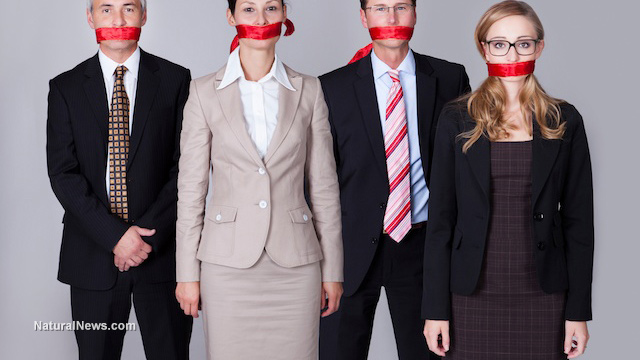 Business-People-Censored-Mouth-Scarf-Gagged