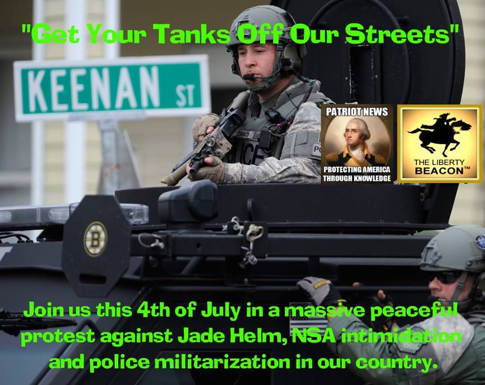 Get your tanks off our streets