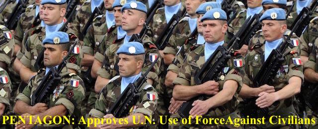 U.N.---UN PEACEKEEPING TROOPS-US-PHOTO